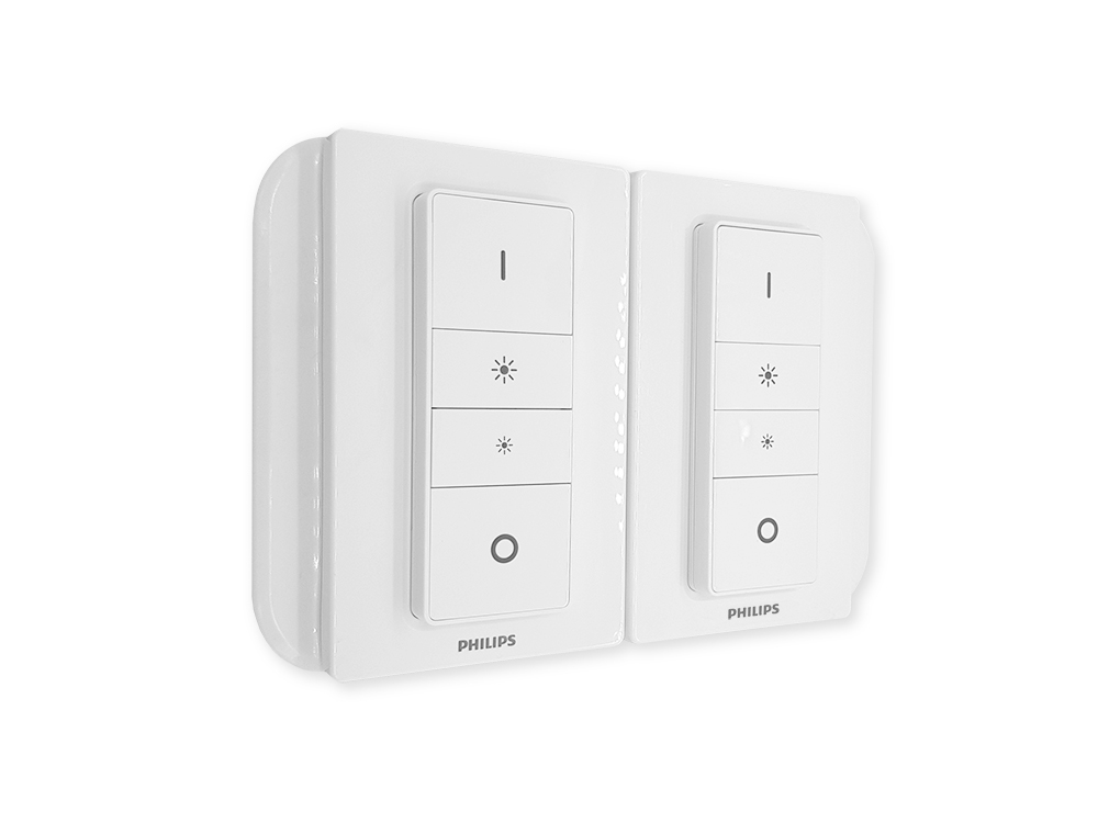 Double Light Switch Cover For Philips Hue Dimmer Sm220